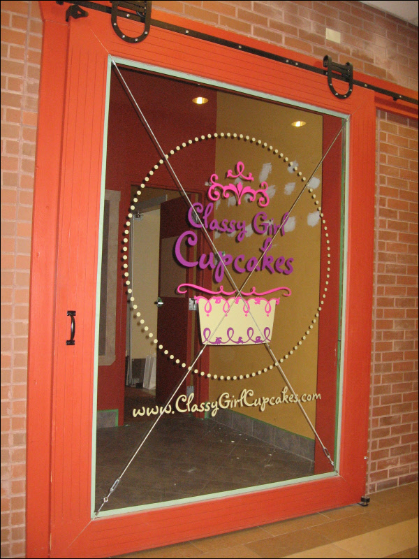 Custom Cut Vinyl Window Graphic Sign For A Store In
