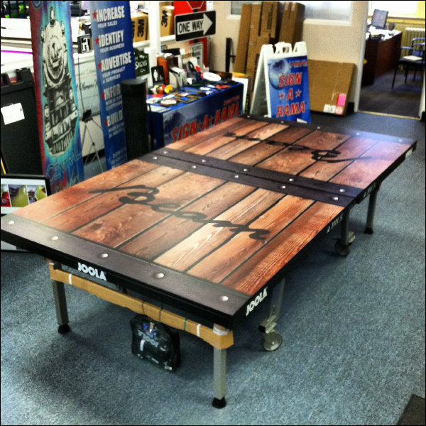 Unique Large Format Digital Print Ping Pong Table