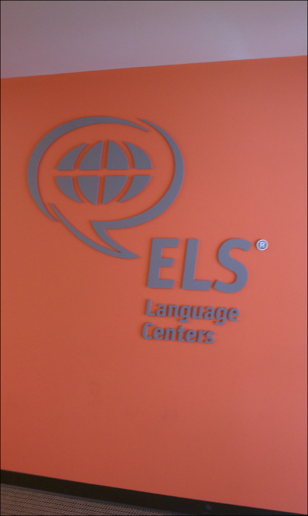 Three Dimensional Painted Formed Letters And Logo On Wall