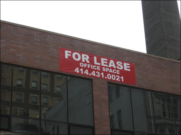 Vinyl Banner Commercial Real Estate Sign Milwaukee