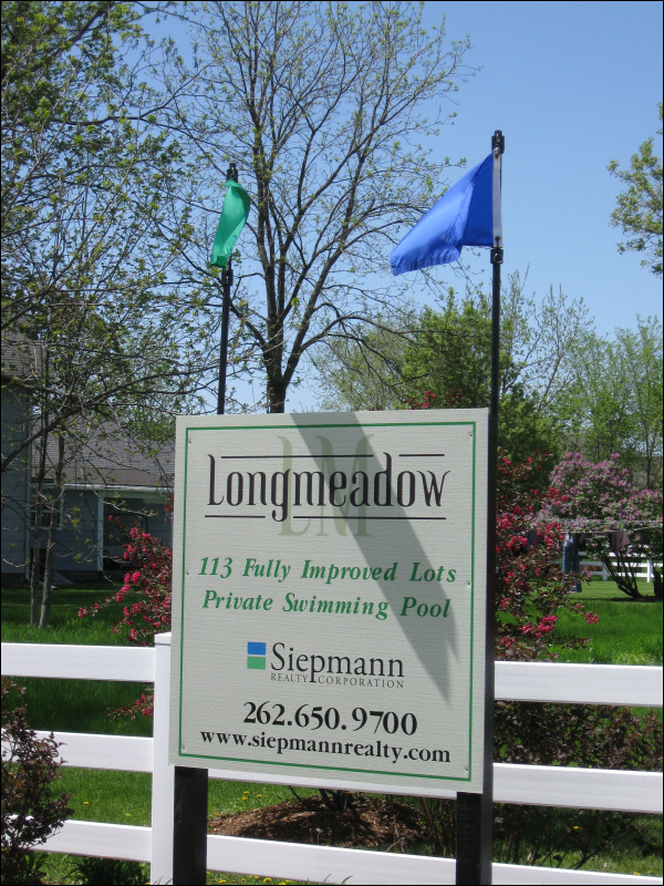 Residential Real Estate Sign With Flags Waukesha County