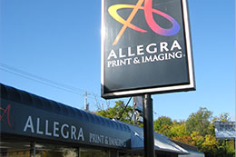 Allegra Print & Imaging Store Sign in Rolling Meadows Illinois