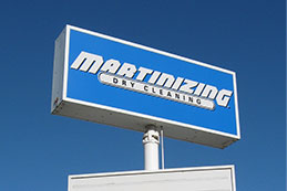 Martinizing Dry Cleaning Exterior Box Sign